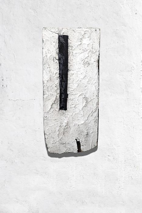 Idyllia, 2018. (Mixed media on wood, 47x21cm)
